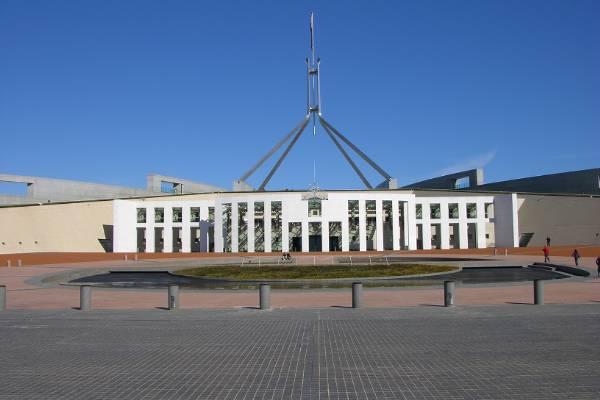 Canberra parliament building