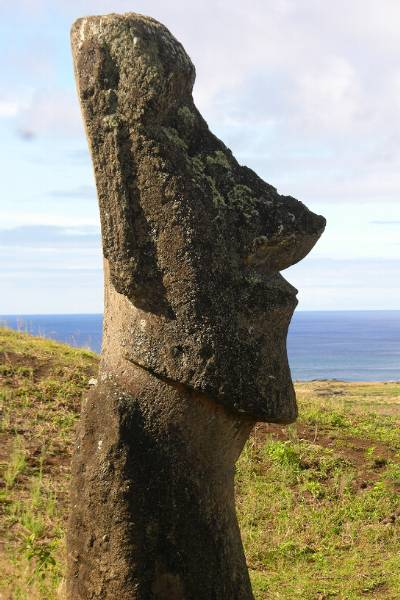 Side view of moai
