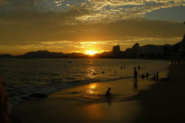 An Acapulco sunset
