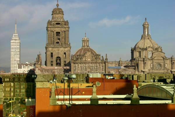 View from Hostel Moneda, Mexico City