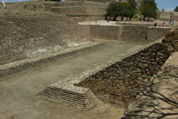 A ball court in Monte Alban, Oaxaca