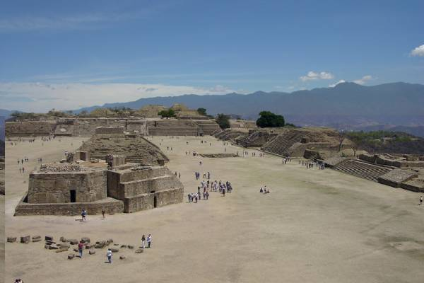 Historic site of Monte Alban, Oaxaca