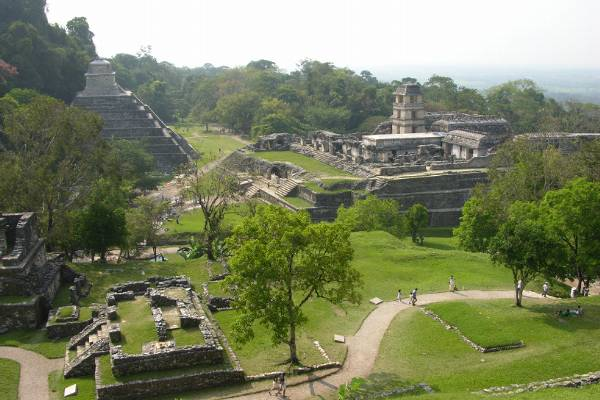A view of Palenque. It was hot.