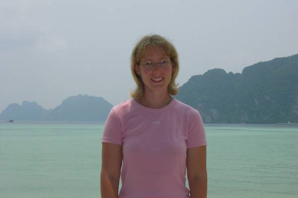 Claire on a Ko Phi Phi beach